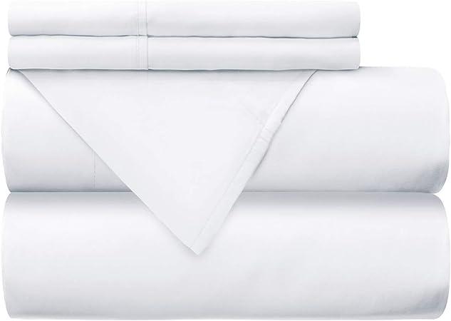 Mellanni - Juego de sábanas 100% algodón – 300 hilos percal: Amazon.es: Hogar