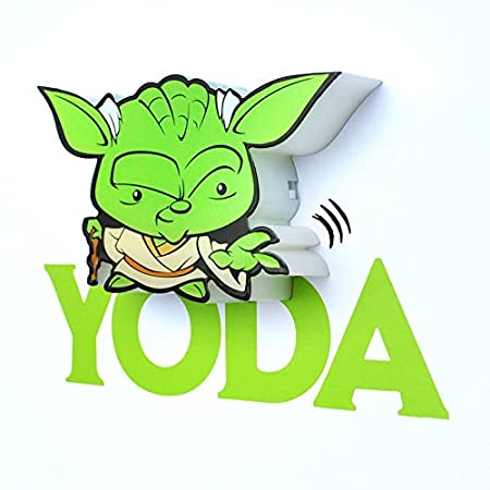 3d Light Fx Lampara Led 3d Wall Yoda Star Wars Disney Mini Amazon