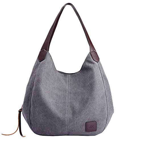 Canvas Women Grey Bags Handbags Shoulder Fashion Epsion Capacity Tote Hobo Large Purse g4FqwF1n