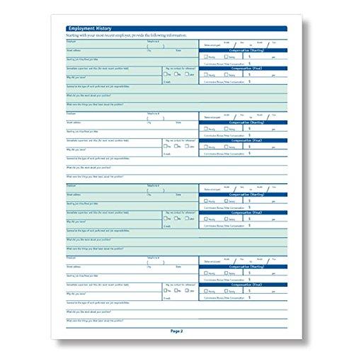 ComplyRight Florida Employment Application, 50 pk