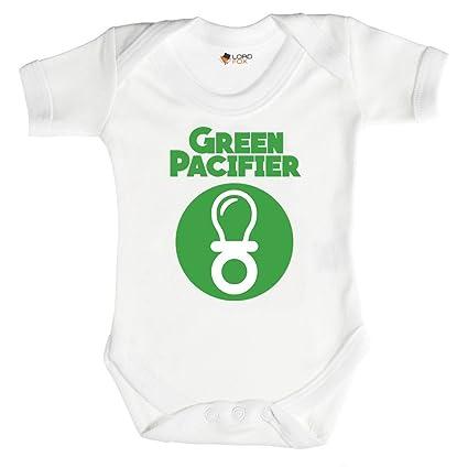 Verde chupete farol Funny Marvel Babygrow bebé crecer todos ...