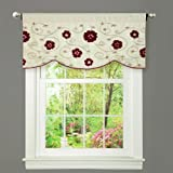 Triangle Home Fashions Lush Decor Royal Embrace Valance, 18-Inch by 42-Inch, Red