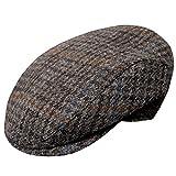 Wigens Vilgot Grey Check Harris Tweed Cap-Grey-58