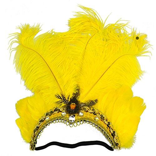 ShiyiUP Masquerade Ball Headwear Belly Dance Feathered Headgear -