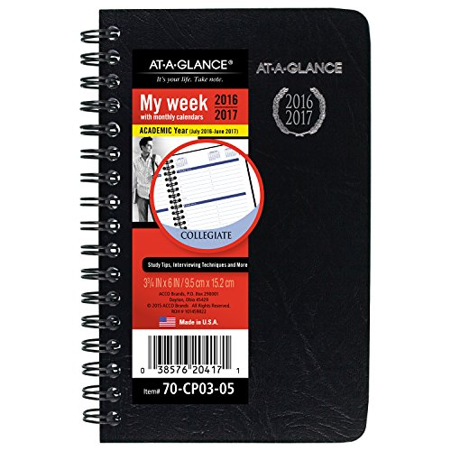 AT-A-GLANCE Academic Year Weekly / Monthly Pocket Appointment Book / Planner, 2016 - 2017, 3-3/4