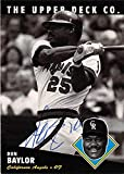 Don Baylor autographed baseball card (California Angels Colorado Rockies) 1994 Upper Deck #179 Ball Point Pen