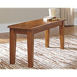 Ashley Furniture Signature Design - Berringer Dining Bench - Rectangular - Vintage Casual - Rustic Brown Finish