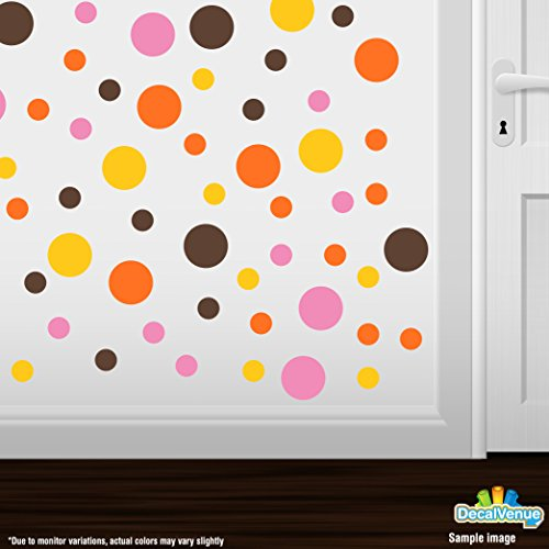 orange and brown wall decals - 5