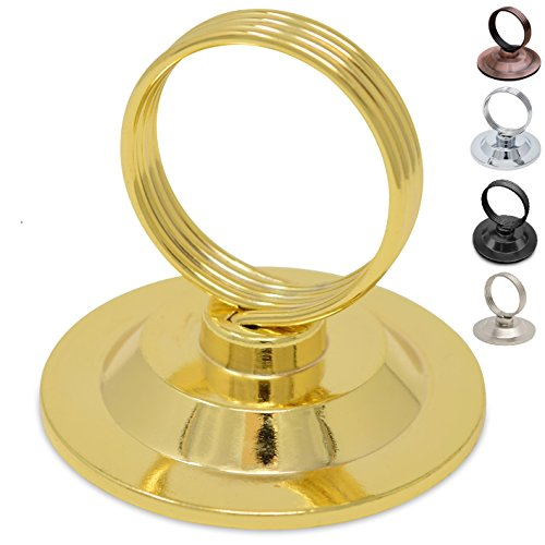Harp Table (GrayBunny GB-6792G Place Card Holder, 12 pack, Gold, Table Cardholder Tabletop Menu Holder Harp-Clip Number Holder Recipe Holder Reserved Card Holder, For Restaurants, Weddings, Banquets)