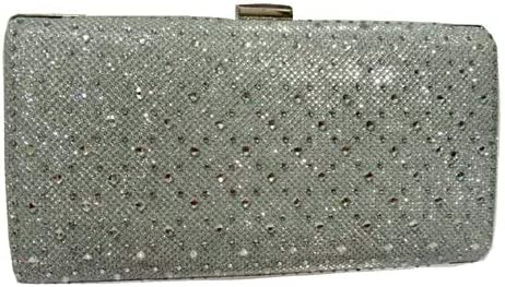 Glitz Ladies Diamante Clutch Bag, Sparkly Rhinestone, Evening Handbag