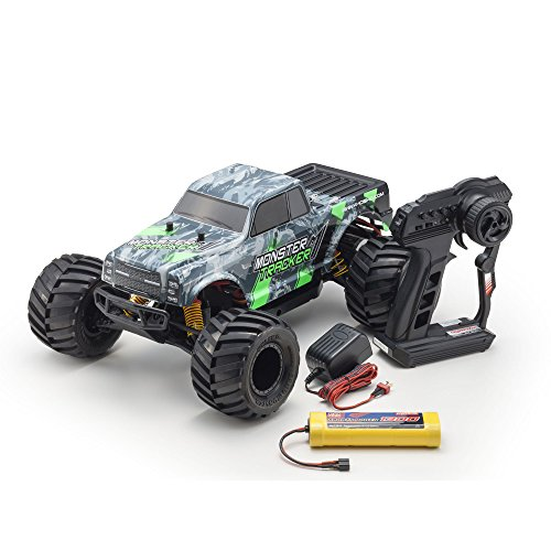Kyosho Ready-to-Run RC Monster Truck Vehicle, Green/Grey ()