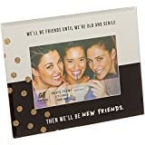 """Pavilion Gift Company 75103 New Friends Mirrored Photo Frame, 7 x 9"""""""