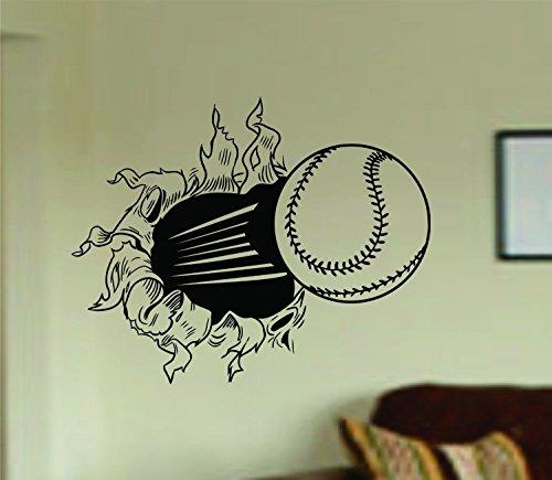 Dabbledown Decals Baseball Bursting Version 101 Through Wall Vinyl Wall Decal Sticker...