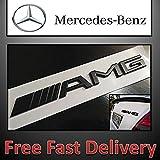 Emblème Noir Mercedes Benz noir ou chromé pour coffre arrière pourAMG, arrière Trunk Chrome Emblème badge Logo  classe C, E, S  et modèles AMG, CL, CLK, CLS, M, SLK, SL