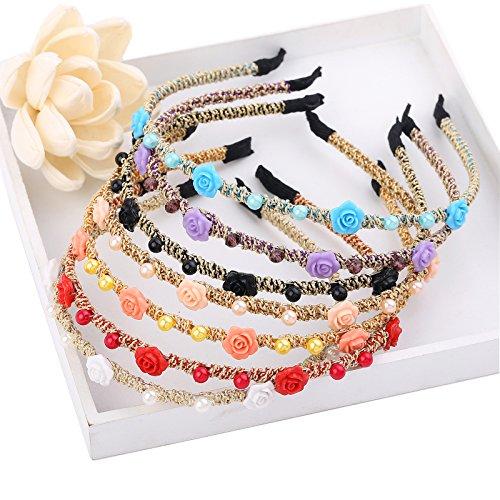 AWAYTR Girls/Women Ribbon or Jewelry Crystal Pearl Headbands