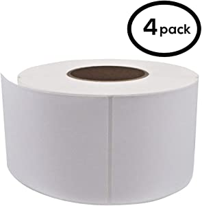 """FungLam 4""""x 6"""" Direct Thermal Labels (4 Rolls, 4000 Labels) - 3'' Core, Perforations Between Labels - Zebra Compatible"""