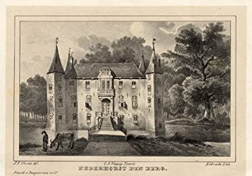 Nederhorst Den Berg Nederland.Amazon Com Antique Castle Print Nederhorst Den Berg Netherlands