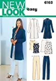New Look Sewing Pattern 6163 Misses Separates, Size A (8-10-12-14-16-18)