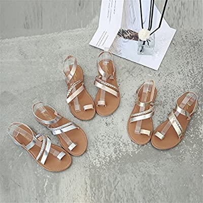 ZOMUSAR New Women Open Toe Fashion Crisscross Valcre Ankle Straps Gladiator Summer Design Flat Heel Flip Flops Sandals