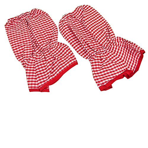 Sleeve Protectors, Baker Sleeves, Sleeve Covers, Clothing Protectors Red Gingham - Set of 2. (Overalls Smith Cotton)