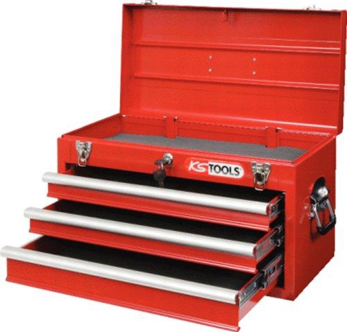 KS Tools 891.0003 Werkzeugkiste aus Metall/ 3Schubl./rot