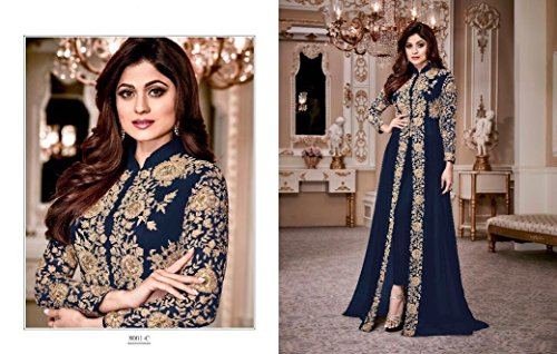 misurare salwar musulmano donna 651 orbace donne kamiz matrimonio vestiti per anarkali colorato stile vestito personalizzato kameez uomo pakistano Bollywood indiano Blue corpetti ragazze 6qYwxvtfw