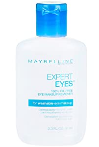 Maybelline Expert Eyes Oil-Free Eye Makeup Remover, For Washable Eye Makeup, 2.3 fl. oz.