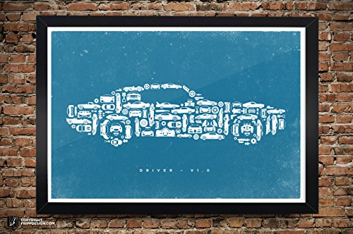 car-collage-of-vintage-super-classic-and-sports-cars-and-parts-premium-matte-poster-13-x-19