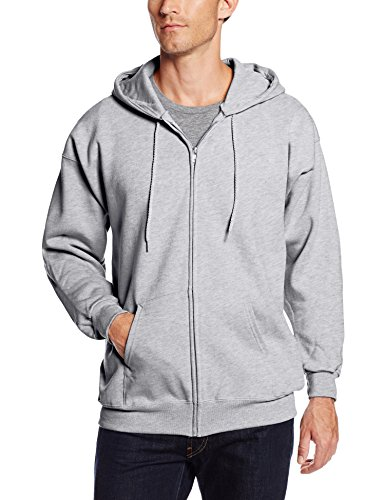 Hanes Men's Full Zip Ultimate Heavyweight Fleece Hoodie, Light Steel, Large