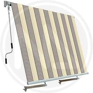 Cortina de Sol 2,5x 2,5Mt–Ecru '-grigio–Sistema de caída para no disponible