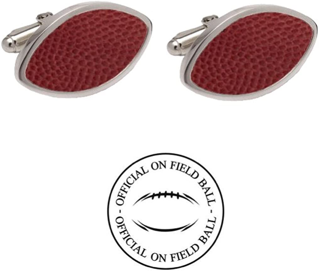 Pittsburgh Official On Field Leather Football Cufflinks with Gift Box