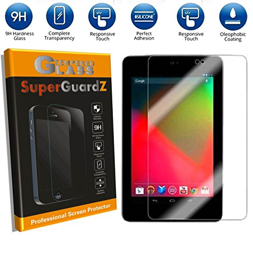 [2-PACK] For Google Nexus 7 (1st Gen, 2012 Release) - SuperGuardZ Tempered Glass Screen Protector [Lifetime Replacement], 9H, 0.3mm, 2.5D Round Edge, Anti-Scratch, Anti-Bubble (Best Case For Nexus 7 1st Gen)