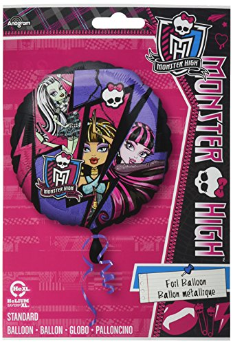 Anagram International HX Monster High Group Party Balloons, Multicolor