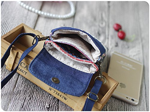 Urmiss(TM) Retro and Vintage Crossbody Bags Cute Cotton Travel Wallet Purse iPhone Case Cell Phone Holders Coin Pouches Handbag Shouder Bag Money Clip Small Crossbody Bags Mini Handbags