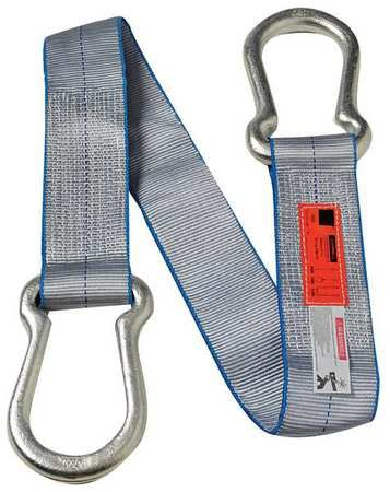 Dayton 1DNG5 Web Sling, Steel Hardware, 4 In W, 6 Ft L