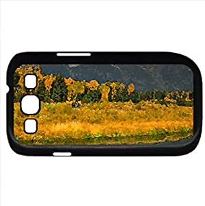 Amazing autumn (Winter Series) Watercolor style - Case Cover For Samsung Galaxy S3 i9300 (Black)
