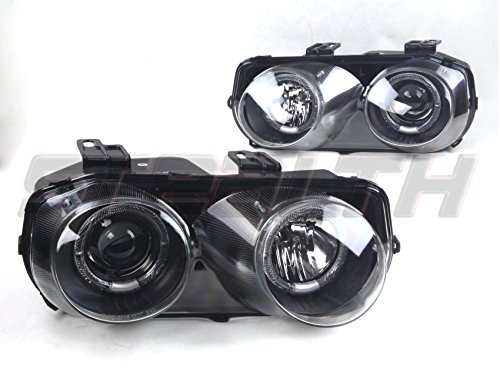 Acura Integra Headlight Assembly (STEALTH STH0216-B 94 97 Acura Integra Headlight OEM FIT Black Housing / Clear Lens)