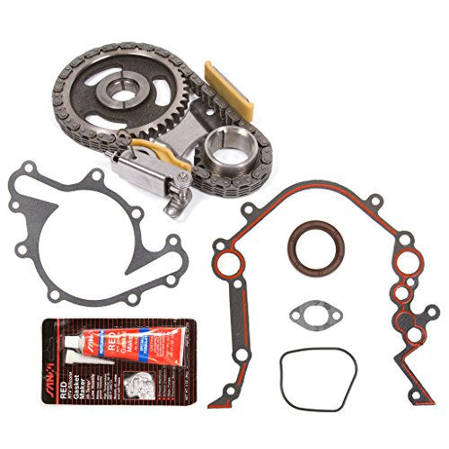 Evergreen TKTCS20500 Fits 90-07 Ford Lincoln Mercury 3.8 3.9 4.2 OHV 12 Valves Timing Chain Kit Timing Cover Gasket -