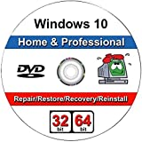 Windows 10 Home & Professional 32 & 64-Bit Install | Boot | Recovery | Restore DVD Perfect for Repair or Reinstall of Windows