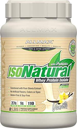- ALLMAX Nutrition Isonatural Whey Protein Isolate, Vanilla, 2 lbs