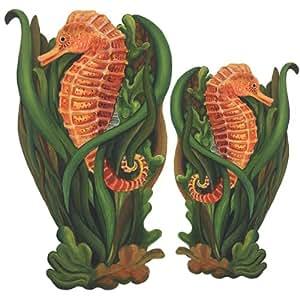 Caballitos de mar con plantas p ster mural de pegatinas de for Pegatinas de peces