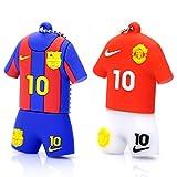 football thumb drive - 8GB USB Soccer Jercey Model Manchester United Bacelona Messi
