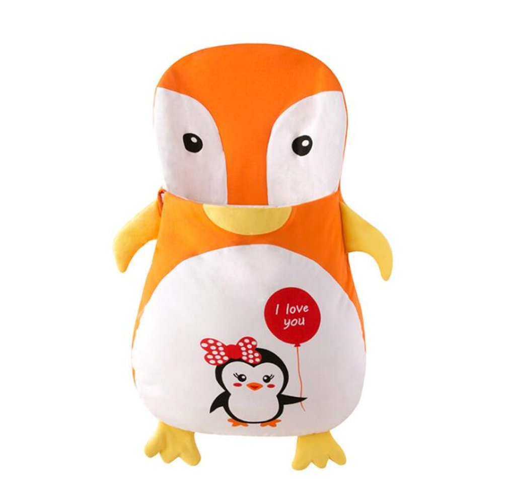 Foresightrade Infant Cartoon Sleeping Bag Cotton Sack Baby Anti-kicking Blankets (41.34'' for 13-36 month baby, orange penguin) by Foresightrade