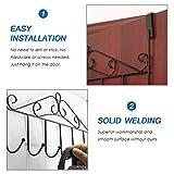 SSAWcasa Over Door Hanger with 7 Hooks,Metal Over