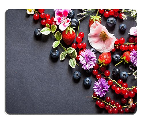 MSD Natural Rubber Mousepad IMAGE ID: 31031132 summer berries and flowers