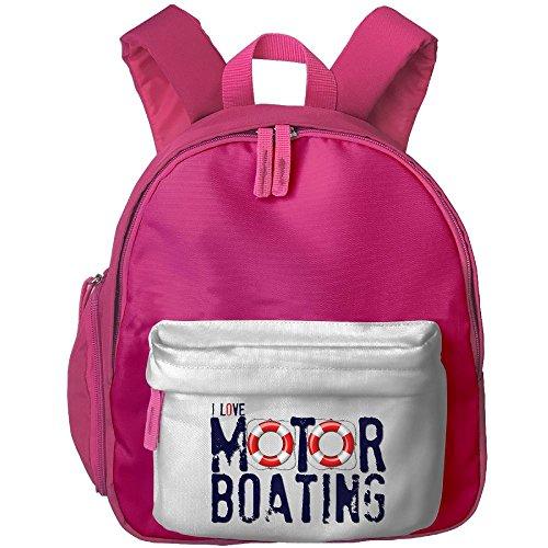 Cute Kids Backpack I Love Motorboating Toddler Backpack Boys Girls Toy Book Bag Best For Preschool