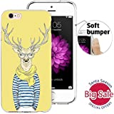 iPhone 6 Case, iPhone 6S Case, Doramifer Illustration Series Protective Case [Anti-Slip] [Good Grip] with Aesthetic 3D Print Soft Back Cover for 4.7 inch iPhone 6/6S (Mr Elk)