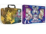 Pokemon Trading Card Game Shining Legends Collectors Chest Tin and Mega Mewtwo X Figure Collection Box Bundle, 1 of Each