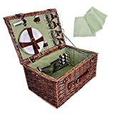 Picnic Basket Complete (set of 10) 19 x 13 x 10 in