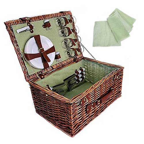 Picnic Basket Complete (set of 10) 19 x 13 x 10 in by suppliesforgiftbasket